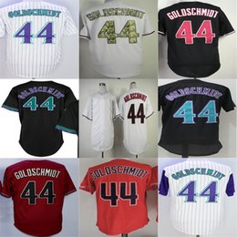Wholesale Toddler Sale - Arizona 1999 #44 Paul Goldschmidt Mens Womens Toddlers Kids Black Red White Flex Cool Base Good quality Hot sale Baseball Jerseys