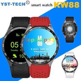 Wholesale Used Kids Quad - KW88 3G Smart watch Android 5.1 IOS watchs Quad Core support 2.0MP Camera Bluetooth smartwatch SIM Card WiFi GPS Heart Rate Monitor 5pcs