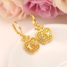 Wholesale cuff earrings women - USA Main stream Sweet Apple star Earrings Women Girls 24k Fine Yellow Solid Gold Filled Earing Jewelry Gifts Indonesia Congo