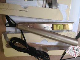 Wholesale Flat Iron Plate - Iron Gold Plated Titanium Plates Hair Straightener Flat Irons Fast Hair Straightening Ceramic Hair Curler Styling Tools DHL Free