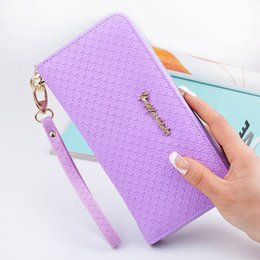 Wholesale Change Purse Wallets - Latest Women zipper Long Wallet Female Coin Purse Change Clasp Purse Money Bag Card Holders Womens Wallets And Purses phone bag