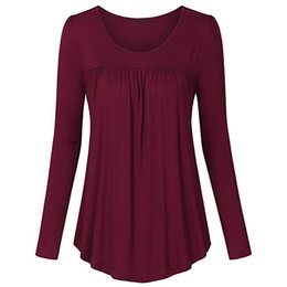2316aa65a14 Womens Tops and Blouses 2018 feminina Streetwear Solid Long Sleeve Tee  Shirts Long Blouse Tunic Ladies Top Casual Clothes