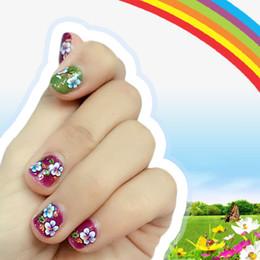 Gel uñas arte diseños de etiqueta online-Yinikiz Nail Sticker Butterfly Designs Para Nail Art Decoraciones UV Gel Polaco DIY Transferencia de Agua Pegatinas Calcomanías