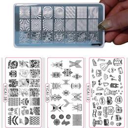 металлические гравировальные узоры Скидка Металл Глубокая Гравировка Гвоздь Штамп Плита 6.5 * 12.5 см YICAI 3D Хэллоуин Пространство Цветочный Узор Nail Art Лак для Тиснения (1-40)