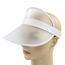 2018 Women s Sun Hats Casual Anti Ultraviolet Transparent Hats UV  Protection Sun Visor Outdoor Plastic Sunshade Caps d84ca078ffe3