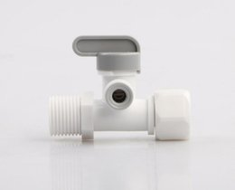 """membranas de filtro Desconto 5 PCS Novo Plástico 1/2 """"turn 1/4"""" Na Linha de Válvula do Interruptor de Filtros de Água Peças para Purificador De Água para Uso Doméstico Sistema de Osmose Reversa"""