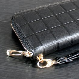 Frühjahr 2018 neue Frau Lingge Handtasche südkoreanischen langen Reißverschluss Tasche geprägtem Herrenhandtasche Handytasche Brieftasche von Fabrikanten