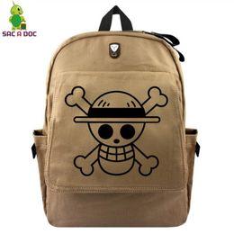7b7ac48fb30d Anime One Piece Luffy Canvas Backpack for Teenage Girls Boys Multifunction  Headphone Jack School Bags Vintage Travel Rucksack