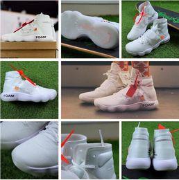 Wholesale Beige Blazer Men - (Double Box) Off Shoes The Ten X Virgil Abloh Air Presto Retro 1 Blazer Mid 97 90 Zoom Fly VaporMax React Hyperdunk 2017 FK White Sneaker