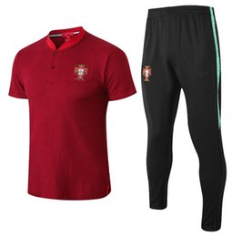 Wholesale men s sports shorts - 2018 World Cup Polo Portugal Soccer Jersey 18 19 red Soccer Polo Football Uniforms Sport Shirt On Sale