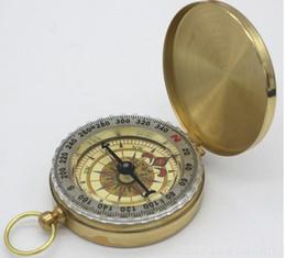 Seta relógios on-line-Tipo de relógio de bolso cobre bússola capa. North Arrow Com luminosa bússola de metal multi-funcional ao ar livre A estabilidade é melhor