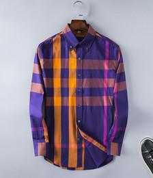 Stile coreano nuovo uomo vestito online-Commercio all'ingrosso 2018 New Spring Men Shirt Lattice Design stile coreano Casual Mens Camicie a quadri Uomo manica lunga abito camicie uomo taglia L = US M