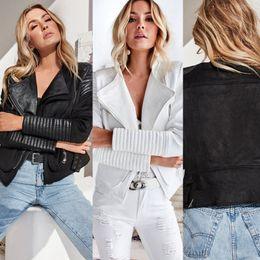 Takım Elbise Dilek Yapay Deri Ortak Lokomotif Düzensiz Gevşek Coat Giyim Ceket Kadınlar supplier women s leather suit jacket nereden kadın deri ceket ceket tedarikçiler