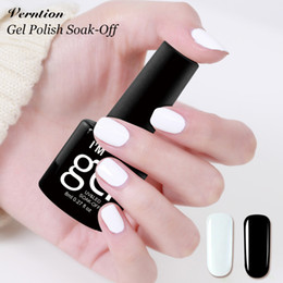 Wholesale Long French Nails - Verntion French Nail Color UV Gel Nail Polish Long Lasting Soak Off Lamp LED UV Lucky An Acrylic Lacquer Products
