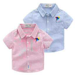 a208ffbbce7 kids boys striped shirts short sleeve balloons embroidery top quality kids  clothing boys 90-100-110-120-130 for 2-7yrs