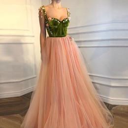 Sexy Arabie Saoudite Long Robes De Soirée Formelles 2018 Chérie Avec 3D Fleurs Kaftan Dubaï Prom Party Robe Robe Longue Vintage ? partir de fabricateur
