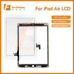 Высокое качество горячий продавать сенсорный экран стеклянная панель с дигитайзер кнопки клей для iPad воздуха Белый бесплатная доставка от