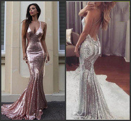 6786a992ff Spaghetti Strap Sequins Mermaid Prom Dresses Canada | Best Selling ...