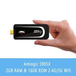 Wholesale Hdmi Android Mini Pc Stick - H96 Pro H3 Mini PC Android 7.1 OS Amlogic S905X 2.0GHz Quad Core 2.4G 5G Wifi BT4.0 TV Dongle 2G RAM 16G ROM 1080P 4K HD TV Stick