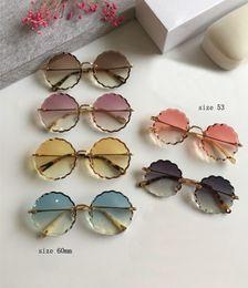 2019 ce occhiali da sole Luxury CE 142S Occhiali da sole rotondi color oro / sfumato marrone 142 Occhiali da sole designer da donna Occhiali da sole Sonnenbrille Nuovo con scatola ce occhiali da sole economici