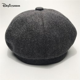 Wholesale Woolen Hats For Women - 2017 Autumn winter Fashion trendsetter All-match woolen hat for women Beret Bucket cap