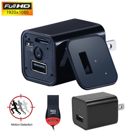 Wholesale Ac Promotions - Factory Promotion AC Adapter HD 1080P Hidden Camera USB Phone spy Charger Camera AC Adapter Wall Charger Video Recorder Spy Cam EU US Plug