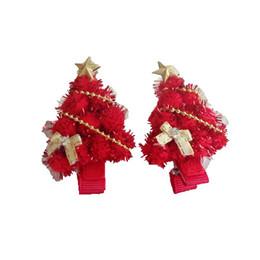 2019 bogen für weihnachtsbäume Weihnachtskinder Kopfschmuck niedlich Bogen Haarball Sterne Baby Mädchen Geschenk Weihnachtsbaum elegante Haarnadel Haarschmuck günstig bogen für weihnachtsbäume