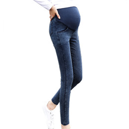 8b75f0d641e Maternity Jeans Skinny Belly Care Pants for Pregnant Women Maternity  Trousers Pregnancy Clothes Plus Size B0296