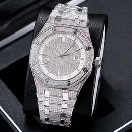 Wholesale top swiss watches for men - AAA Top Quality Full diamonds Sapphire Glass Swiss Eta 3120 Automatic Watch for Men