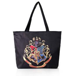 2019 sacos de escola de harry potter Harry Potter Bolsa Hogwarts Escola Emblema Lona Mensageiro Bolsa de Ombro Tote Saco de Praia Sacos Casuais sacos de escola de harry potter barato