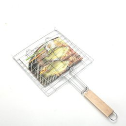 Wholesale fish coat - Grilled Fish Net Bold Plus Large Size Fish Grill Stainless Steel Barbecue Tools Barbecue Clip Baking Tools