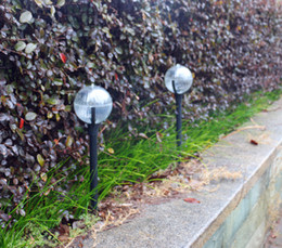 Wholesale Ball Sensor - 2018 Creative Solar Garden Light Outdoor lighting RGB Ball Crystal sphere Zen Staff Lawn lamp waterproof light sensor 10cm diameter