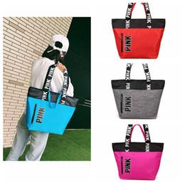 2019 calzamaglia impermeabile 5 colori rosa lettera borse donne borse a tracolla amore rosa impermeabile shopping bag borsa borse da viaggio segrete borsette all'aperto 10 pz