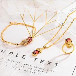 свадебные ювелирные наборы 24k золото Скидка  jewelry designer jewelry sets for women wedding jewelry 24k gold plated necklace bracelets rings hot fahison