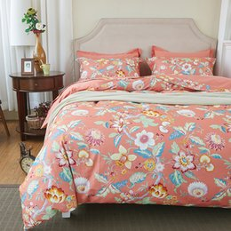 Wholesale Red Rose King Size Bedding - Svetanya sunflower Print Bedding Sets 100% Sanding Cotton Bed Linens Twin Queen King Europe Size Bedclothes