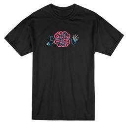 Leichte geschenkbilder online-Neon Brainstorming Glühbirne Grafik T-Shirt - Bild von Shutterstock Geschenk Print T-Shirt Hip Hop T-Shirt T-Shirt neue Ankunft