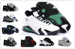 Wholesale Leather Shoes For Sale - 2018 basketball shoes 14 mens Indiglo Oxidized Green Thunder Black Mens Basketball Shoes For Sale Men Athletic Sneakers