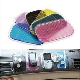 Wholesale magic cellphone - 3PCS Magic Sticky Pad Car Anti Slip Mat Mobile Phone Holder Car Dashboard Silica Gel Sticky Pad Anti-Slip Mat For GPS Cellphone