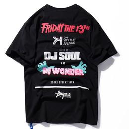 Wholesale graffiti shirt white - 2018 Summer Graffiti Letter Printed Short Sleeve T-shirts Mens Hip Hop Tops Tees Male DJ T-shirt Streetwear