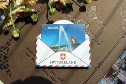 2019 nevera individual Ginebra, Suiza Turismo Viaje Souvenir 3D Imán de Nevera de Madera Artesanía IDEA DE REGALO