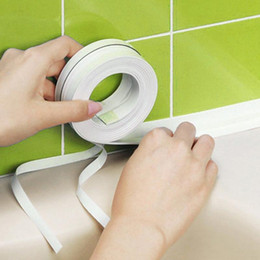 adesivos de parede de vinil pássaros de árvore negra Desconto 3.2 mx3.8 cm casa de banho casa de banho cozinha PVC adesivos de parede arte tira de vedação fita adesiva selante resistente ao mofo Pegatinas