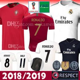 Wholesale jersey ronaldo - 18 19 Real Madrid Soccer Jersey CR7 Shirt Ronaldo Kroos Bale Sergio 2018 2019 World Cup Portugal ASENSIO ISCO PEPE SILVA Champions Football