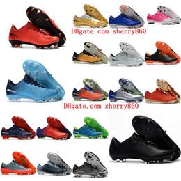 H sapatos on-line-2018 chuteiras de futebol originais Mercurial Vapor XI botas de futebol baratos Mens botas de futebol baratos baixo Ronalro neymar H botas