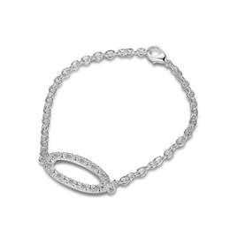 Hochzeitsgeschenk! Der Art und Weisetrend der ovalen Armreifterling versilbert Armband SPB508; Art und Weisemädchenfrauen 925 Silber Link, Kettenarmband von Fabrikanten