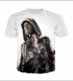 Assassins creed t shirts en Ligne-Été Date Mode Femmes / Mens Assassins Creed Jeu Drôle 3D Creative Casual Hip Hop T-shirt DS00236
