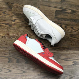 Wholesale rubber trends - Brand TOP Low One White Red Men Basketball Shoes New Designer 2018 Fashion Trends Europe Limited AAA+ Quality Running Shoes