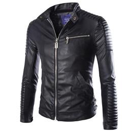 Autumn Winter Luxury Pu Leather Jacket for Men Long Sleeve Motorcycle Jacket Male Stylish Slim Fit Jacket Black White Veste Cuir Homme M-2XL от Поставщики знак из натуральной кожи