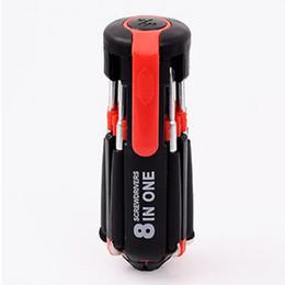 6 en 1 Multi outil clé chaîne tournevis avec DEL Lumière Camping Usage Domestique