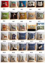 Almohada de corea online-43 * 43CM Home Sofa Pillow 2018 Verano último estilo Cute Cartoon Corea Europa y América estilo Pillow Bed almohada decorativa Color múltiple