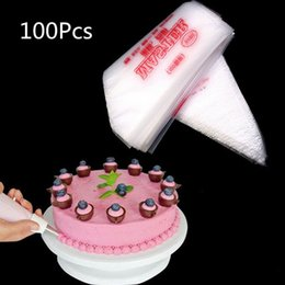 Wholesale Ice Mold Pipe - 100 PCS lot Large Size 34.5x24.3cm Cake Cream Decorating Disposable Icing Pastry Disposable Piping Bag Mold
